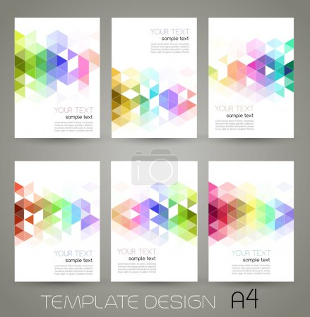 Illustration for Vector color abstract geometric banner with triangle. - Royalty Free Image