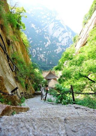 Photo pour Falaise de mille pieds au mont Hua - image libre de droit