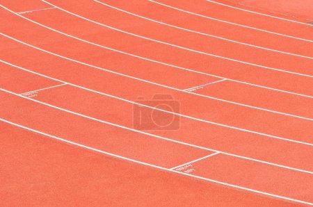 Photo for Athletics stadium running track - Royalty Free Image