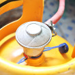Yellow gas cylinder...