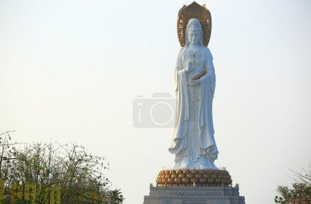 Goddess of mercy statue at seaside in nanshan temp...