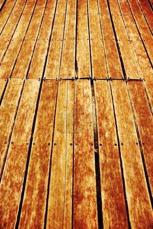 Photo pour Grunge bois fond de pont - image libre de droit
