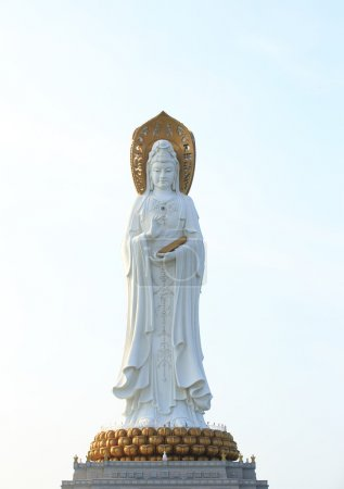 Goddess of mercy statue at seaside