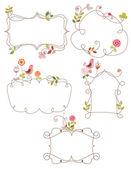 Lovely nature doodle frames