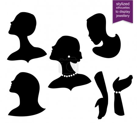 Stylized Silhouettes to display Jewelry