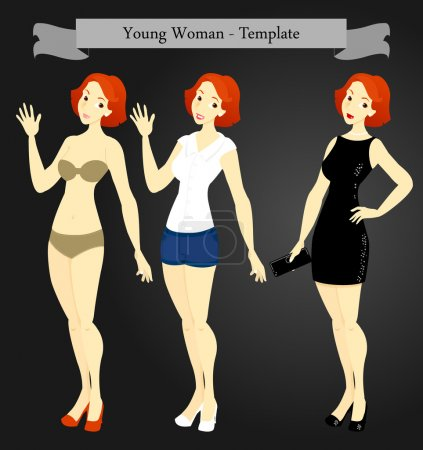 Young Woman Template