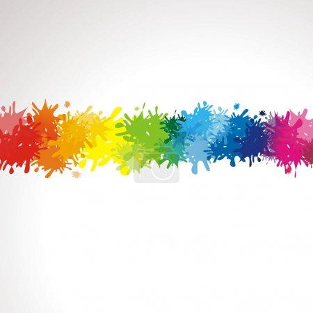 Illustration pour Fond coloré avec un espace pour le texte - image libre de droit