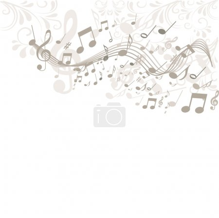 Illustration for Musik background - Royalty Free Image