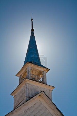Photo pour Clocher d'une vieille église - image libre de droit