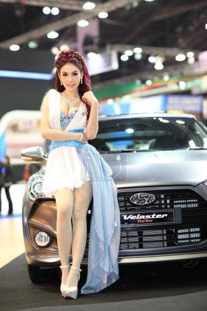 BANGKOK MARCH 26 Black Hyundai
