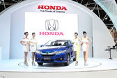 BANGKOK - MARCH 25 : Honda City car with Unidentified models on
