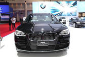 NONTHABURI - March 25: BMW ActiveHybrid 7 car on display at The