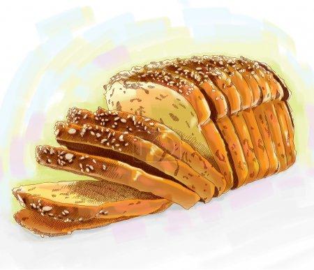 Illustration pour Pain de pain - image libre de droit