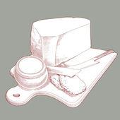 Vector Hand Drawn Cheese