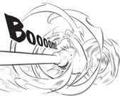 Vector Hand Drawn Comical Background - Cannon
