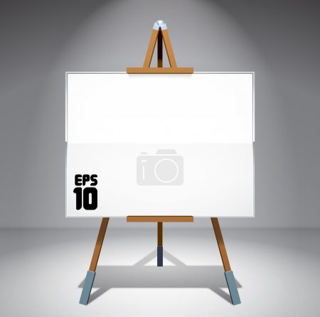 Illustration for Vector Blank Canvas on Painting Easel - Royalty Free Image