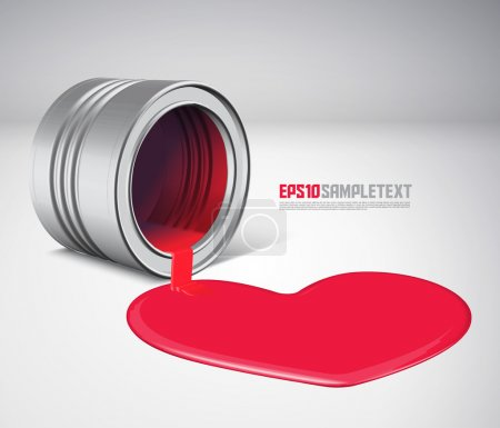 Illustration for Vector Spilled Paint - Love - Royalty Free Image