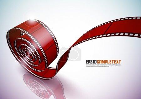 Illustration pour Bande de film rouge vectoriel - image libre de droit