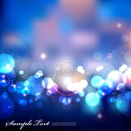 Illustration pour Vecteur Blurry Blue Lights - image libre de droit