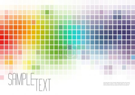 Illustration for Multicolor Mosaic Background - Royalty Free Image