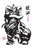 Ink Painting of Chinese Lion Dance