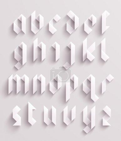 Illustration pour Ensemble alphabet graphique papier vectoriel - image libre de droit