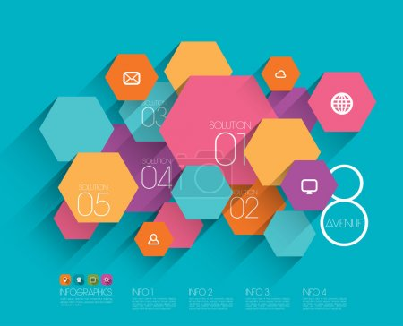Illustration for Vector Flat Graphic Design Template - Royalty Free Image