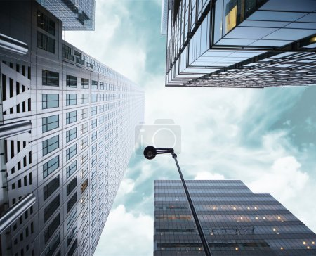 Photo for Group of skyscrapers near Canary Warth - Royalty Free Image