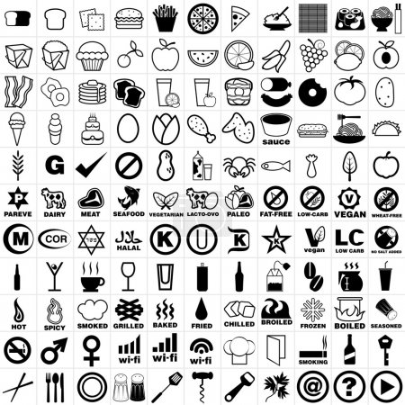 121 Restaurant and Bar Icon Set