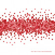 An abstract vector background with a pixel art sty...