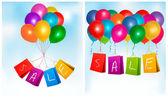 Prodej nákupní tašky. koncepce slevy. vektorové ilustrace