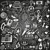 music party - doodles set
