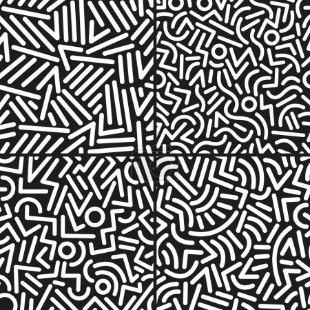 seamless abstract vector backgrounds set