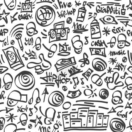 Rap,hip hop symbols - seamless backrond