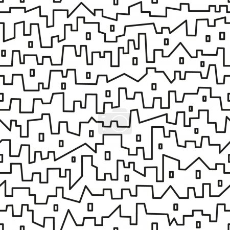 Photo for City - seamless vector pattern with simple shapes - Royalty Free Image