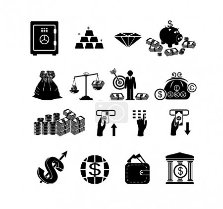 Finance & banking icons set.