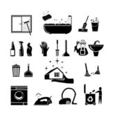 Vector illustration icons on cleaning Plumbing and bathroom vector icons set