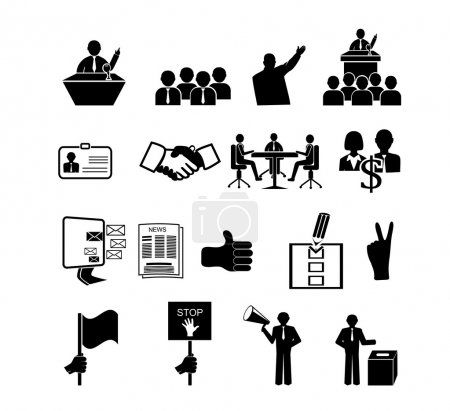 Politics, Voting and elections icons