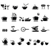 Vector collection of cooking equipment and tea