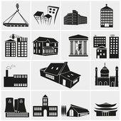 Set of various buildings