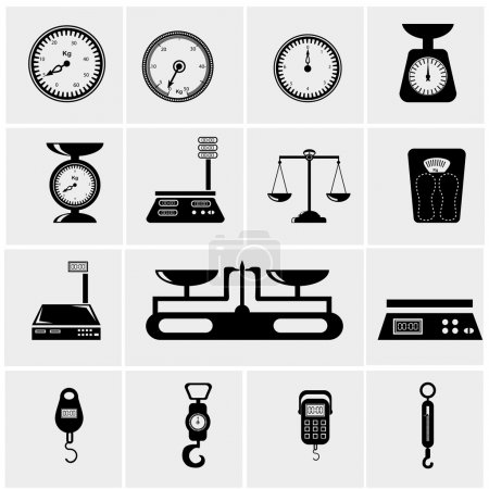 Illustration for Vector illustration of scales. weighing machine - Royalty Free Image