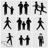 People walking icons