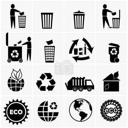 Recyclable materials icons