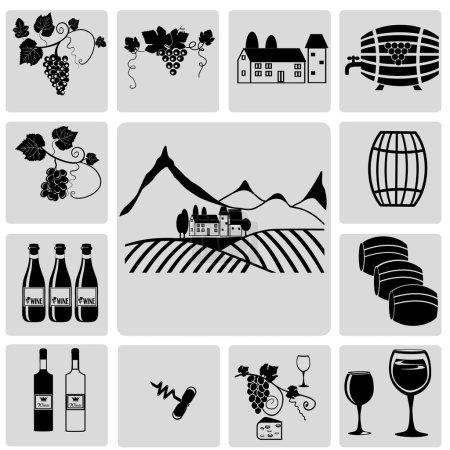 Illustration pour Vin et vinification - image libre de droit