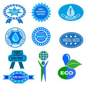 Water badges and stickers