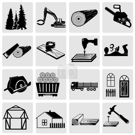 Woodworking and construction icons