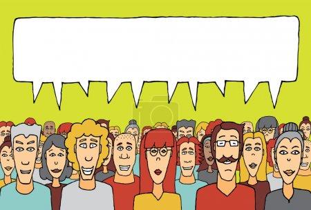 Illustration pour Foule parlant ensemble - image libre de droit