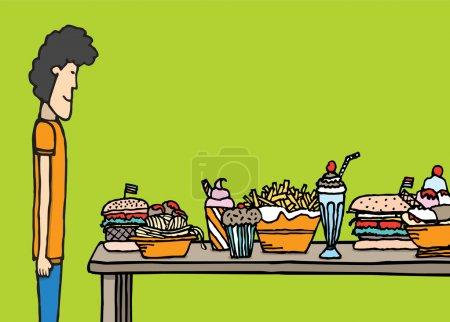 Guy in big feast