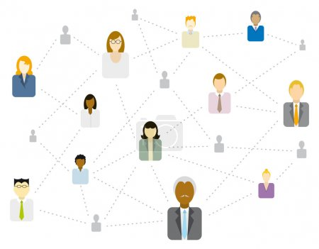 Social Business network connecting multi ethnic