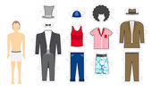 Male Makeover Exchangeable looks - Costume